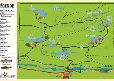 Pourvoirie Coin Lavigne - Mappe du territoire - St-Côme - Lanaudière - Qc